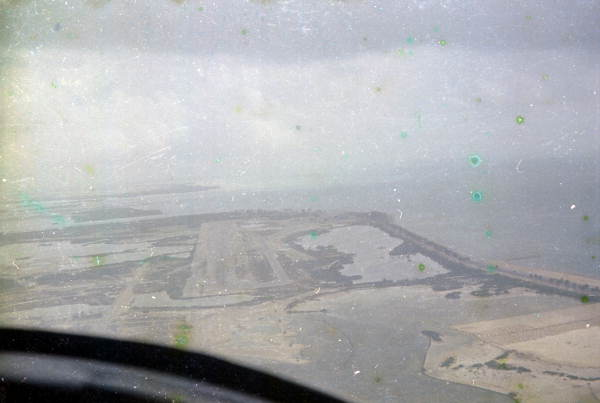 Aerial view of the Key West International Airport looking east.