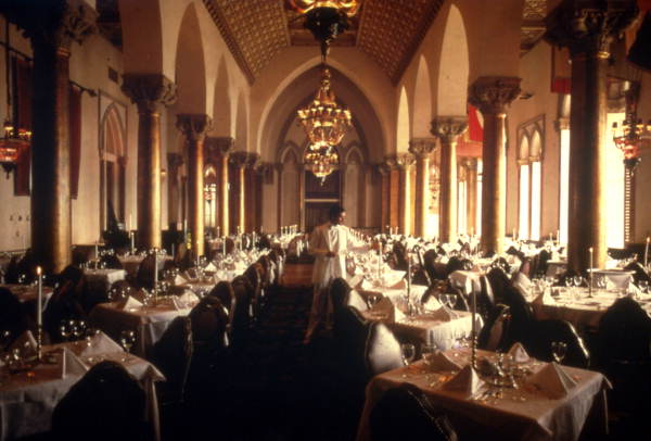 Interior view of the dining room at the Boca Raton Hotel & Club located at 501 E. Camino Real in Boca Raton, Florida.