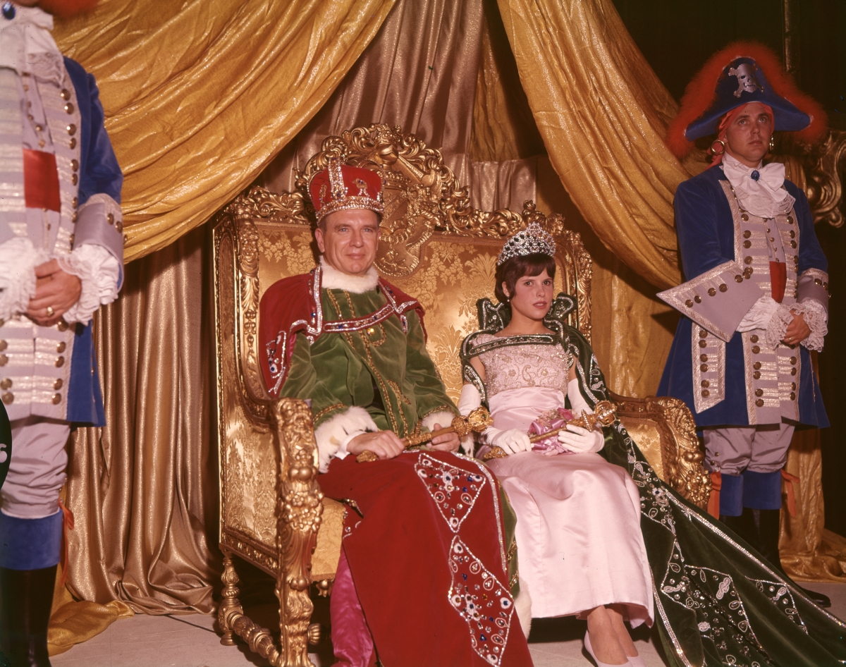 Gasparilla Carnival King and Queen at the coronation ceremony in Tampa.
