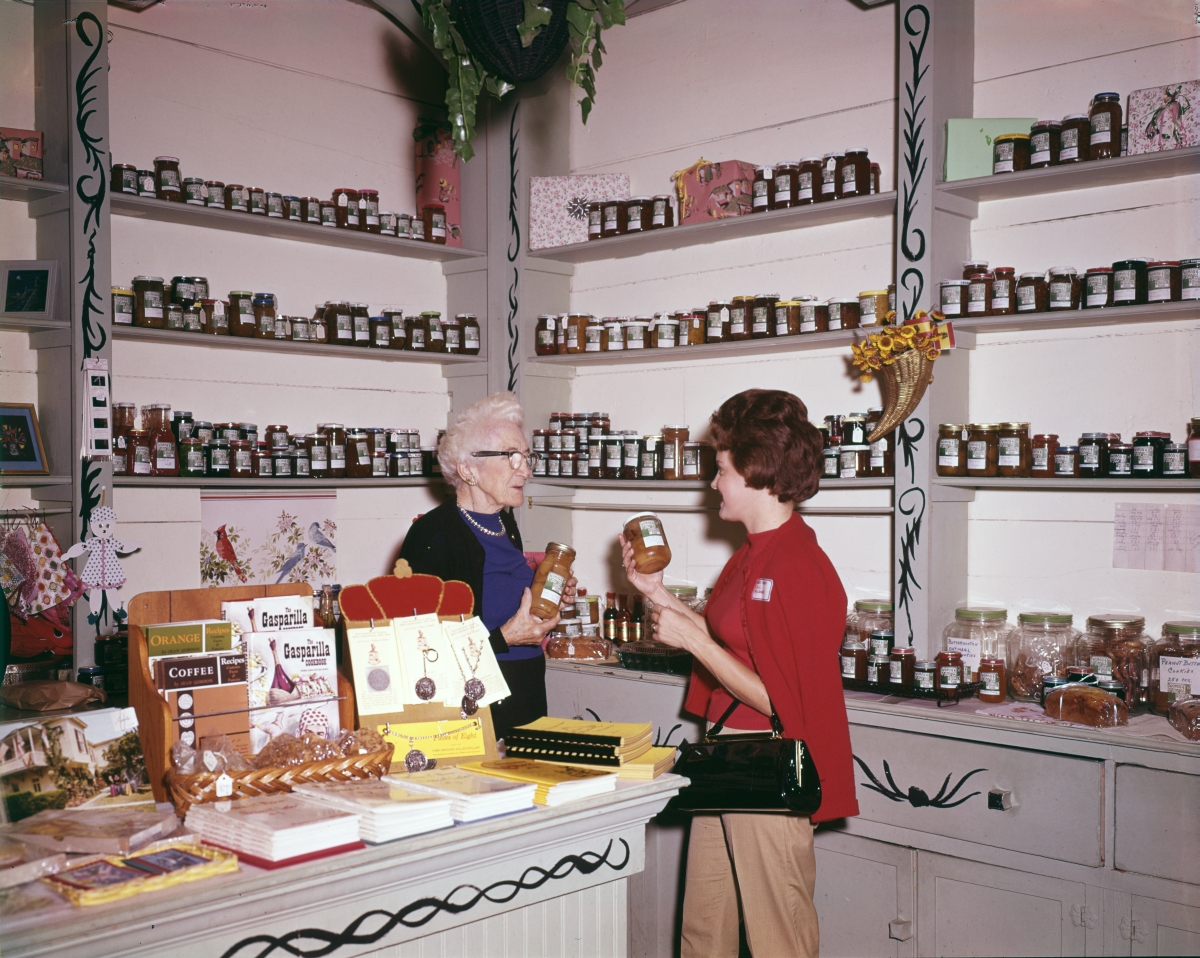 Visitor from F.D.C., right, in the Old Spanish Treasury gift shop in St. Augustine.