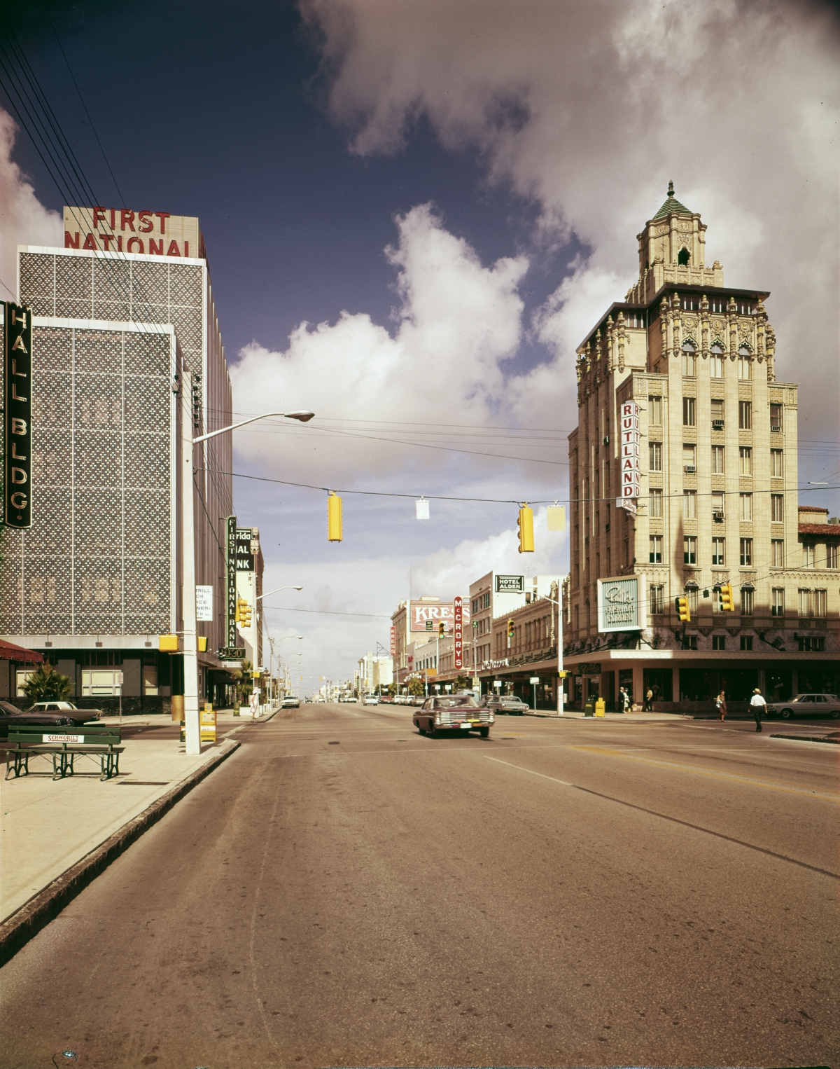 Looking west on Central Ave. in downtown Saint Petersburg.