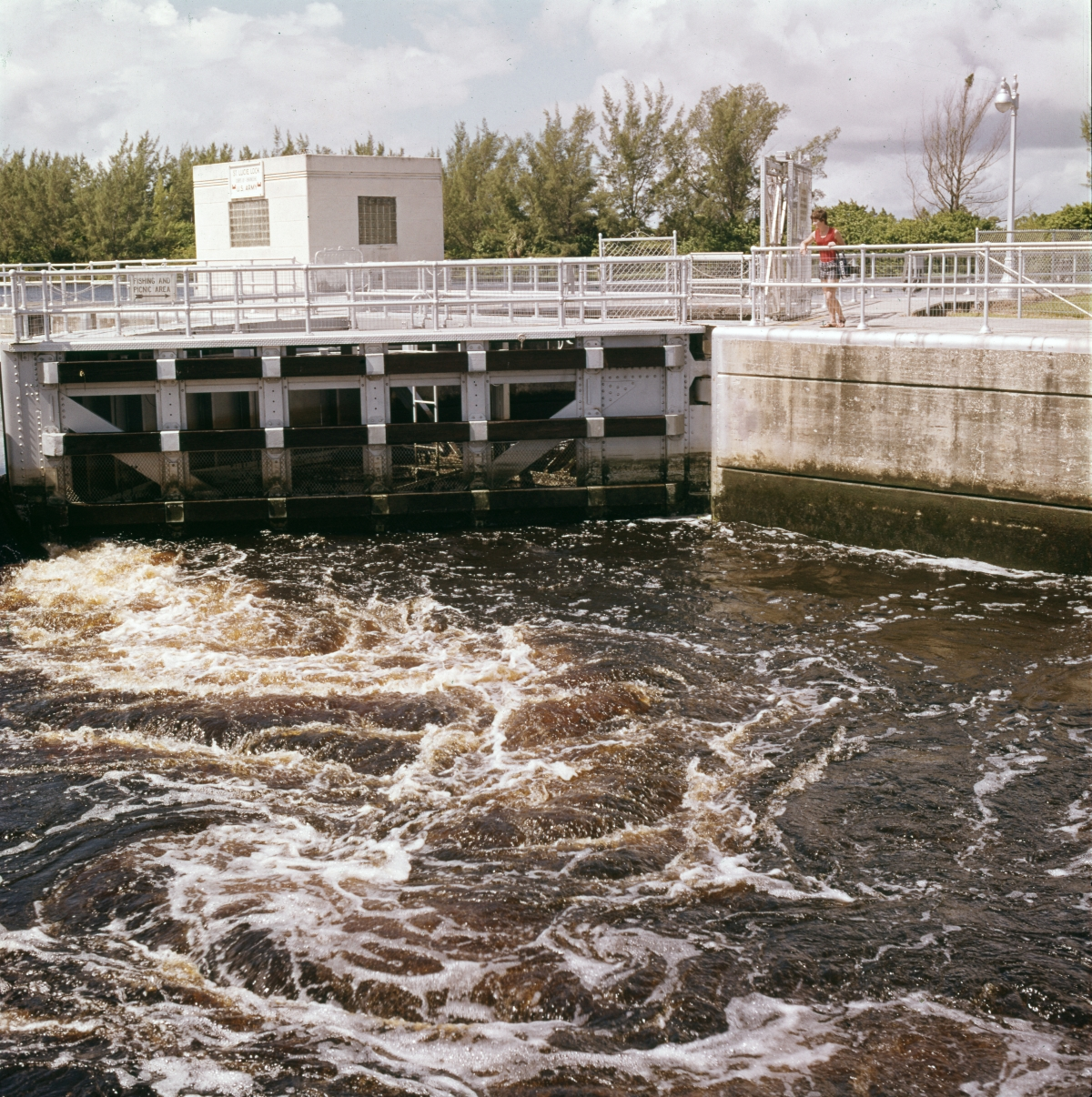 Close-up view of the St. Lucie Lock and Dam near Port Saint Lucie.