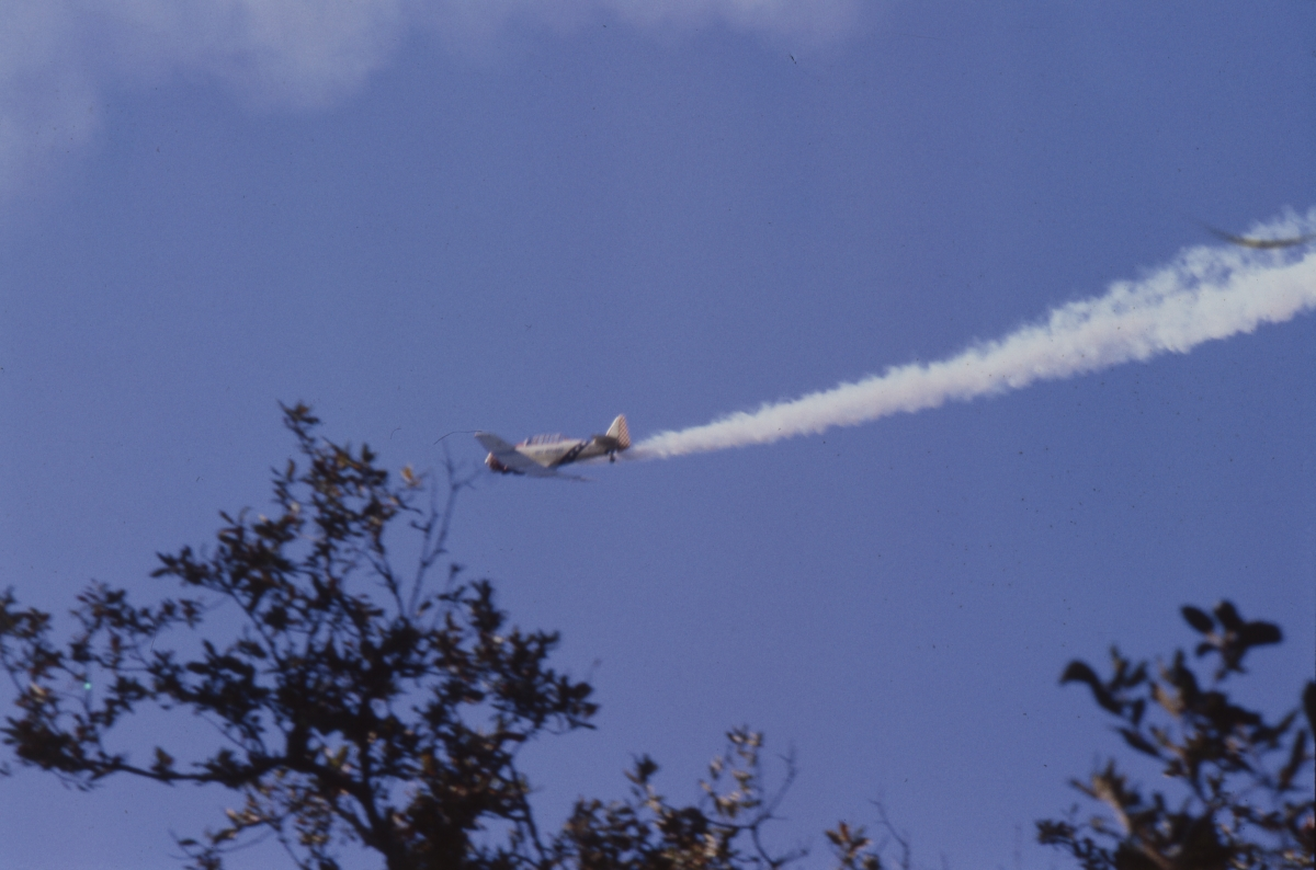 Military flyover during inauguration of Governor Graham in Tallahassee.