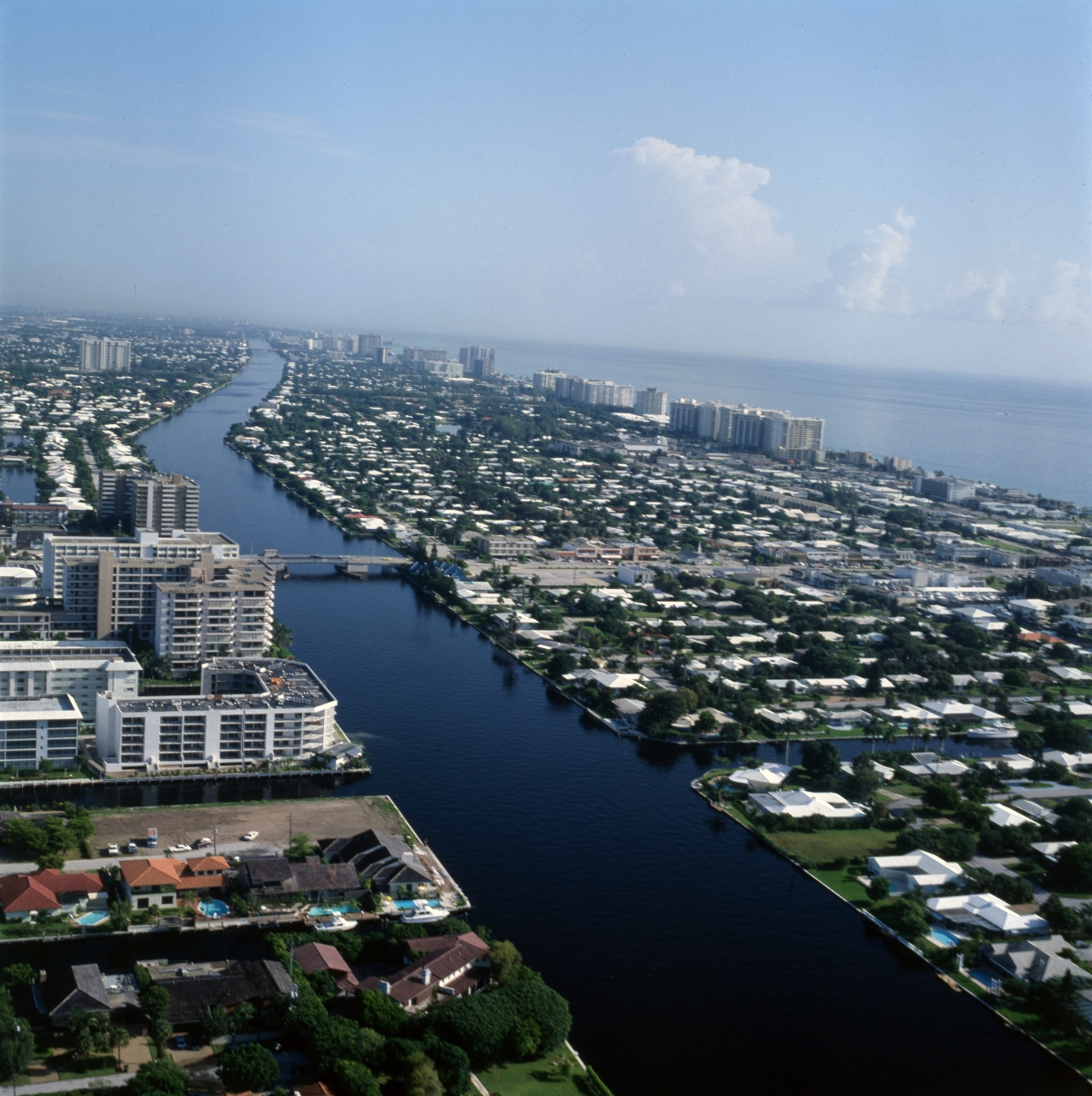Aerial view looking north over Lauderdale-by-the-Sea.