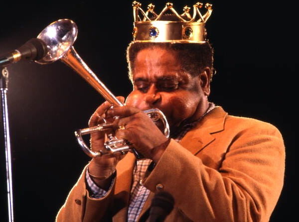 Dizzy Gillespie performing during the Jacksonville Jazz Festival.