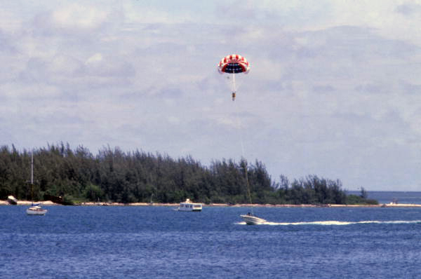 Parasailing in Key West.