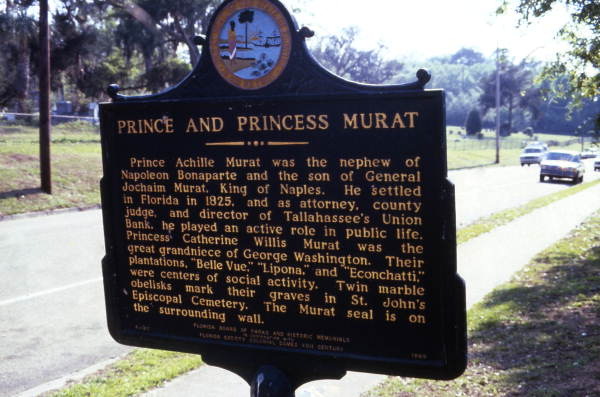 Murat historical marker in Tallahassee.
