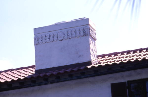 Close-up of chimney at the Lambert House at 605 W. Venice Ave. in Venice.