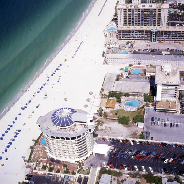 Aerial view of Saint Petersburg Beach, Florida.