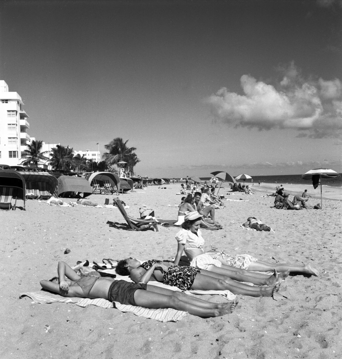 Sun-bathers at Fort Lauderdale beach.