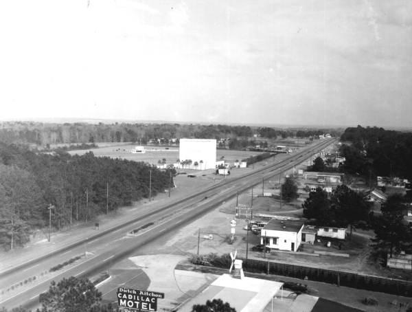 Aerial view of Apalachee Parkway - Tallahassee, Florida.