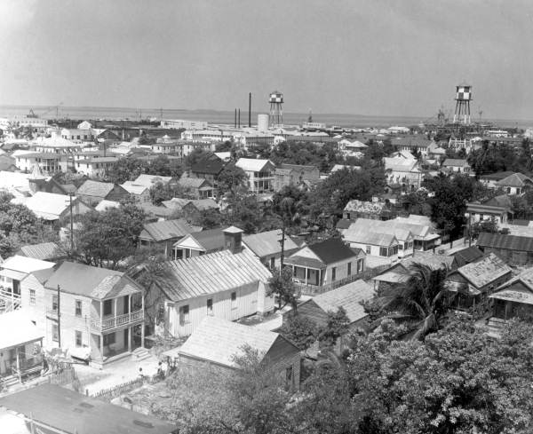 View from the lighthouse at Key West.