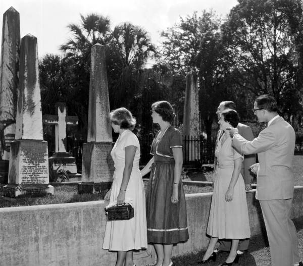 Women visit the graves of Prince Murat and his wife - Tallahassee, Florida.