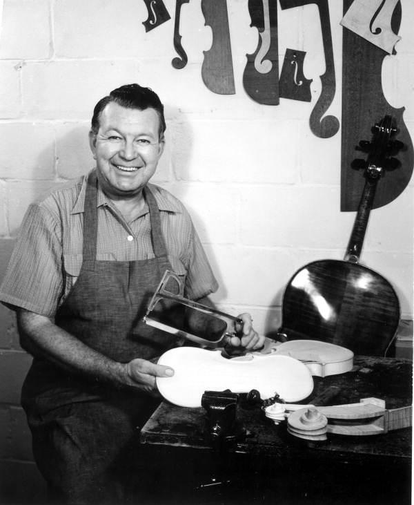 Violin maker Dudley Reed.