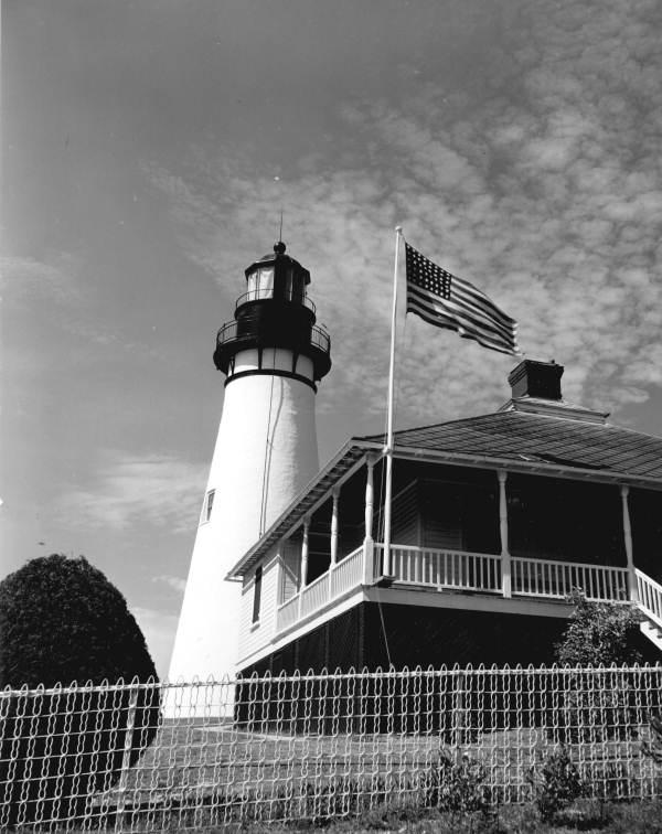 View of the Amelia Island Lighthouse - Fernandina Beach, Florida.