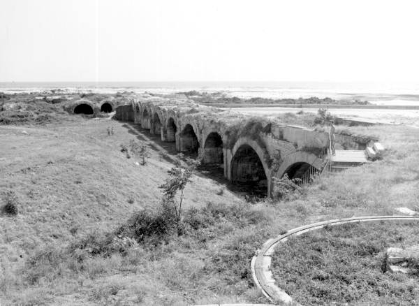 View of Fort Pickens' casemates seen from the top of its wall - Santa Rosa Island, Florida.