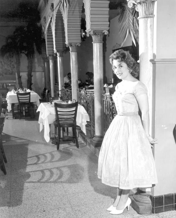 Helen Diaz, Miss Cigar Queen 1960, at the Tri-City Suncoast Fiesta in Ybor City - Tampa, Florida.