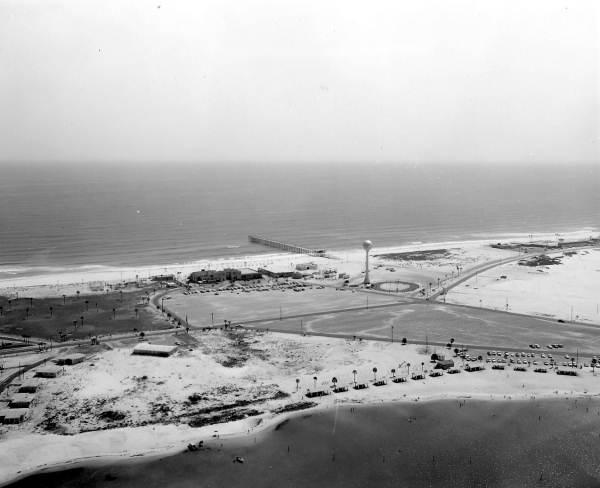 Aerial view of Pensacola Beach.