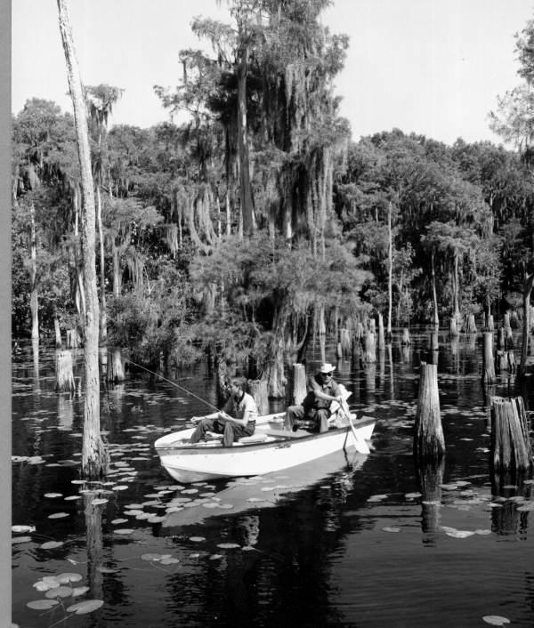 Bass fishing at Dead Lakes.