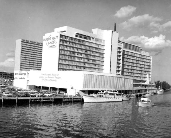 DuPont Plaza Center and Hotel on the Miami River - Miami, Florida.