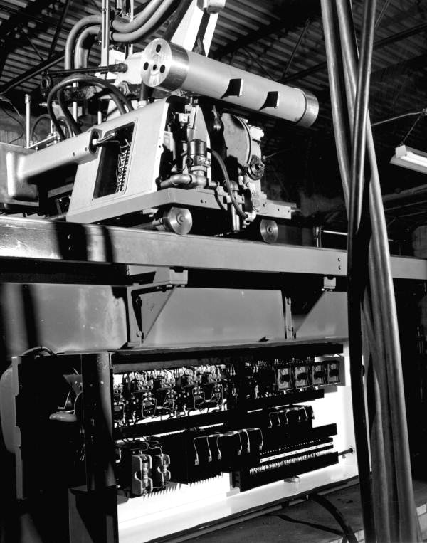 A manufacturing machine at the Jackson-Ross Corporation - Tampa, Florida.