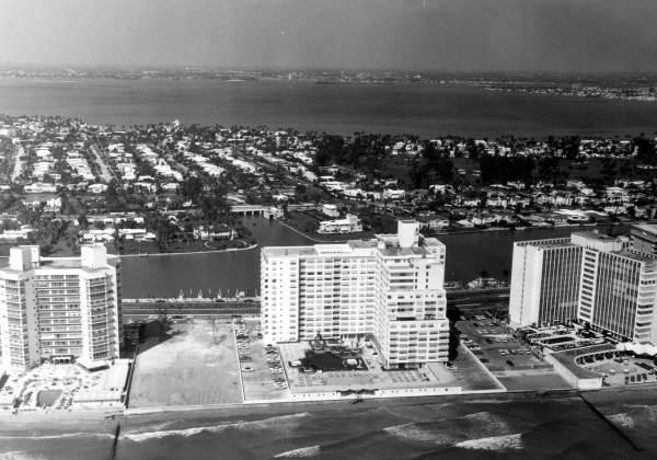 Aerial view of Miami Beach.