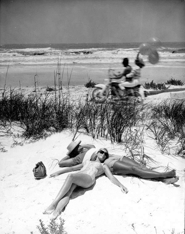 Resting couple at Panama City Beach.