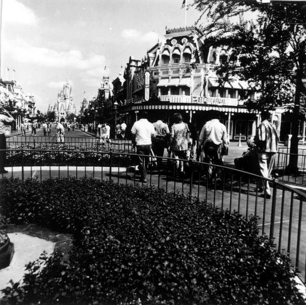 View of tourists at the Magic Kingdom - Orlando, Florida.