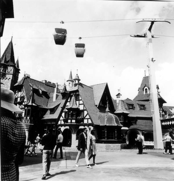 View of tourists at Disney World - Orlando, Florida.