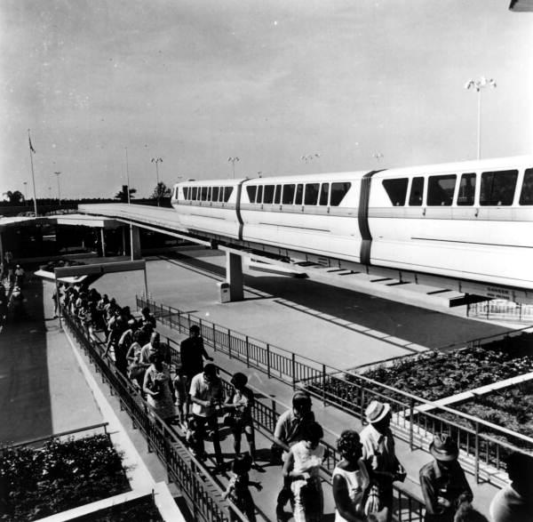 View of the monorail at the Magic Kingdom - Orlando, Florida.