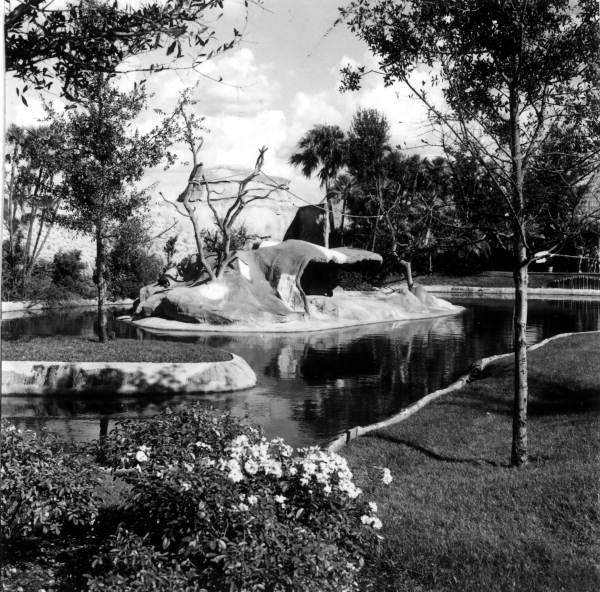 Attraction at Busch Gardens - Tampa, Florida.