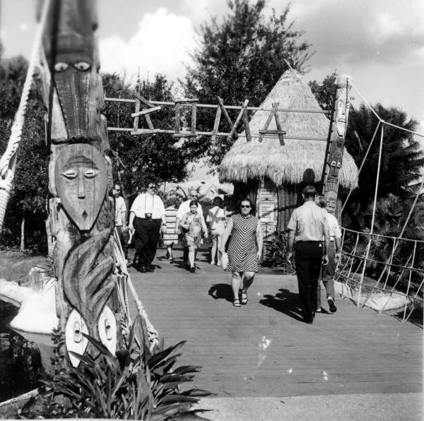 Entrance to Boma attraction at Busch Gardens - Tampa, Florida.