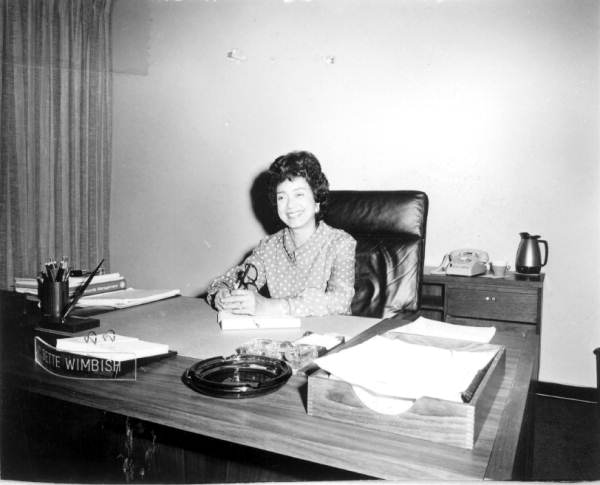 Deputy Secretary of Commerce C. Bette Wimbish at her desk - Tallahassee, Florida.