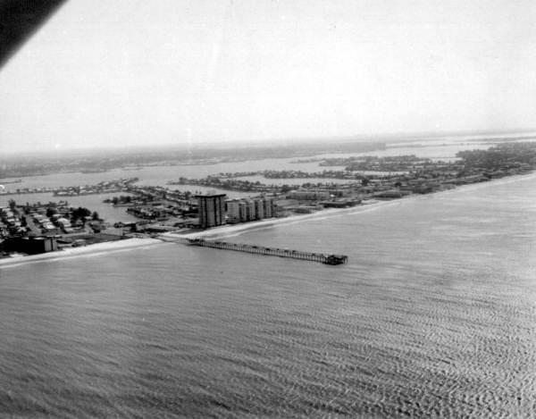 Aerial view of beach - Saint Petersburg Beach, Florida.