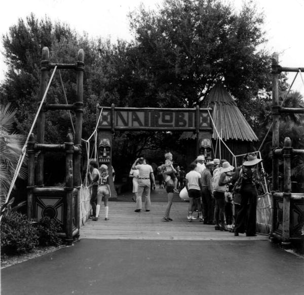Entrance to Nairobi attraction at Busch Gardens - Tampa, Florida.