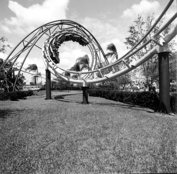 Python roller coaster at Busch Gardens - Tampa, Florida.