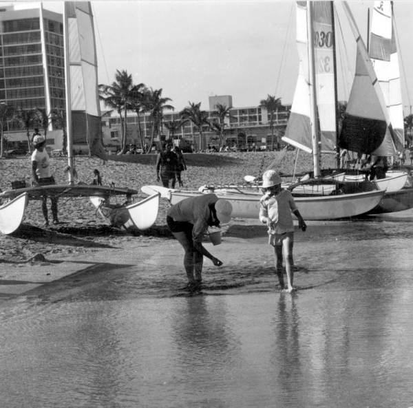 Catamarans on Fort Lauderdale Beach.