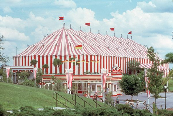 View of big tent at the Circus World theme park in Orlando, Florida.