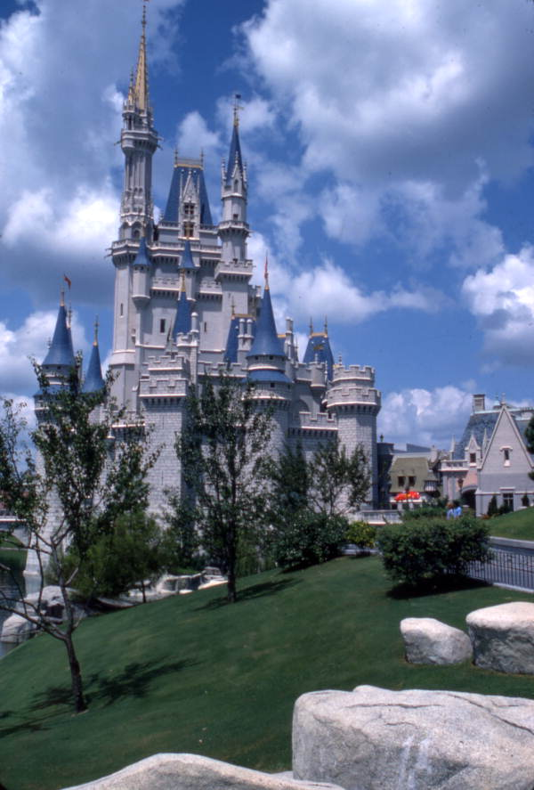 View of Cinderella's Castle at the Magic Kingdom in Orlando, Florida.