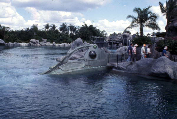 View of the 20,000 Leagues Under the Sea ride at the Magic Kingdom amusement park in Orlando, Florida.