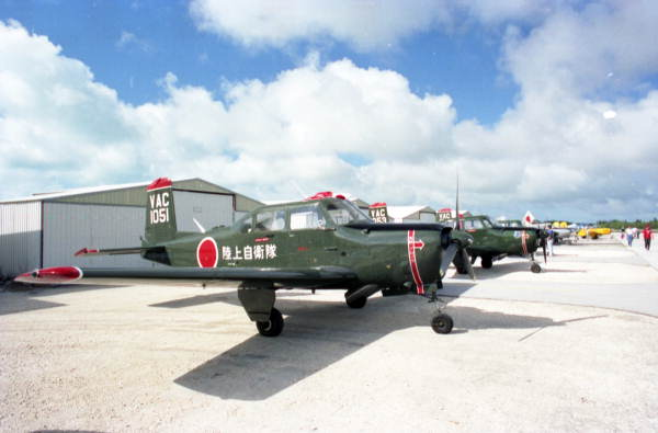 """Aircraft painted as Japanese """"Zero"""" fighter planes on display during the first annual Key West Air Show at the Key West International Airport."""