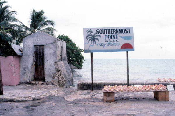 """Sign at the """"Southernmost Point"""" - Key West, Florida."""