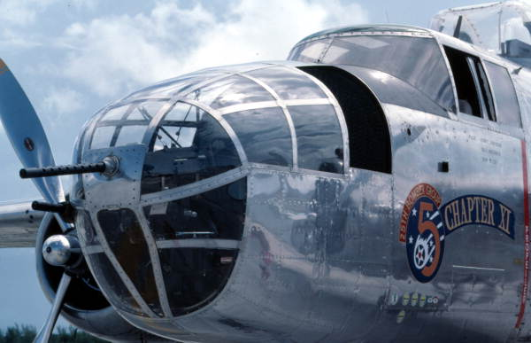"""B-25 """"Mitchell Bomber"""" at the 2nd Annual Key West Air Show."""