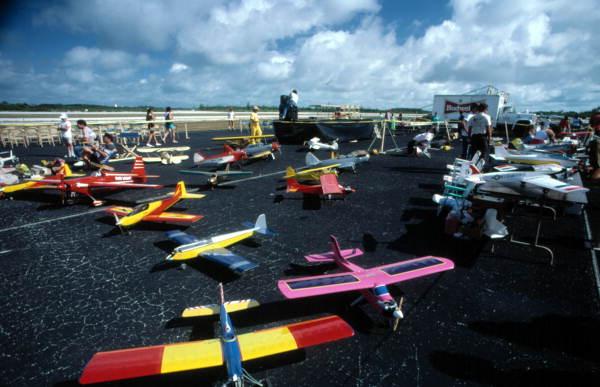 RC model aircraft display - Key West, Florida..