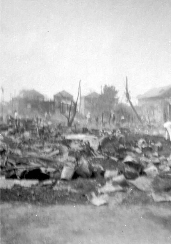 """Remains from the """"Great Fire of 1923"""" - Key West, Florida."""