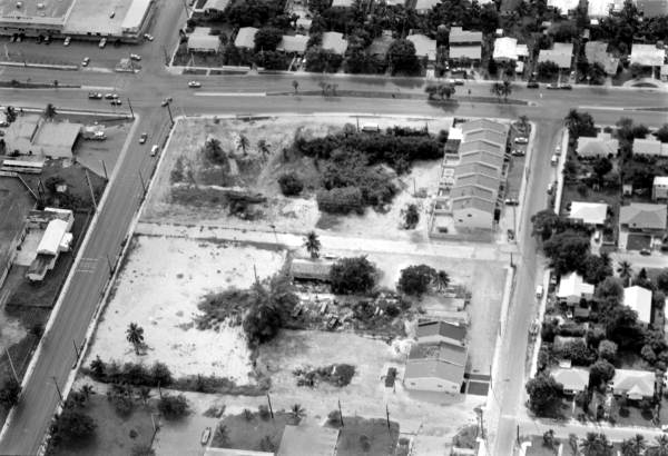 Aerial view of a vacant lot on Flagler Avenue - Key West, Florida.