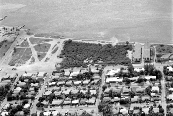 Aerial view of vacant lots on Atlantic Boulevard - Key West, Florida.