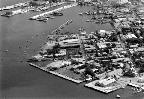 Aerial view of the Mallory Square complex - Key West, Florida.