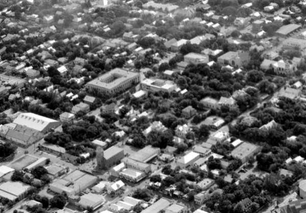 Aerial view of a section of the city - Key West, Florida.