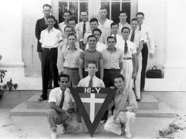 "Group portrait of the 1939 Key West High School ""HI-Y"" club - Key West, Florida."